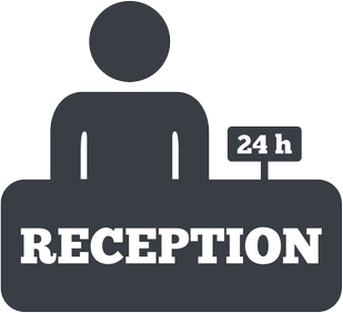 Hotel reception icon