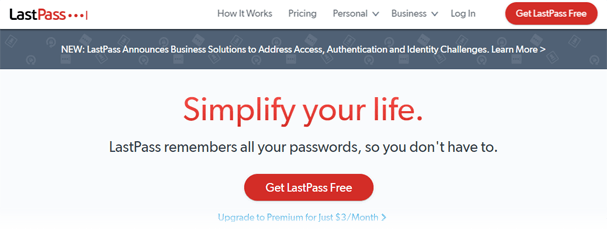 LastPass website