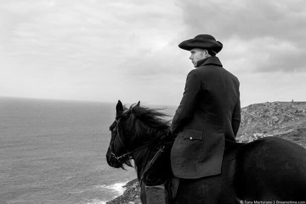 Poldark on a horse