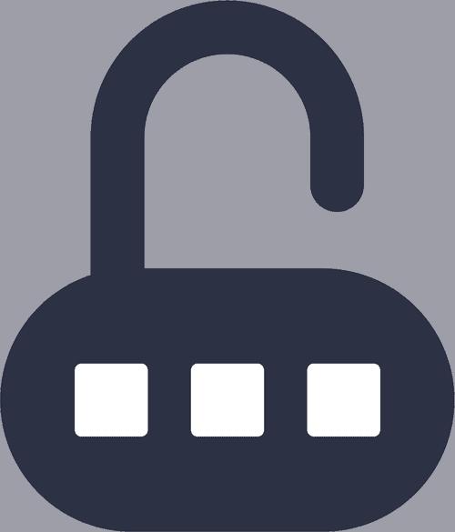 Padlock with password