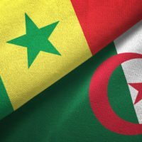 Senegal and Algeria flags together