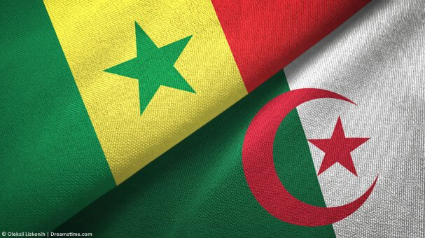 Senegal and Algeria flags together
