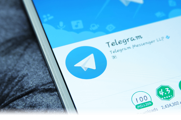 Telegram app on the app store