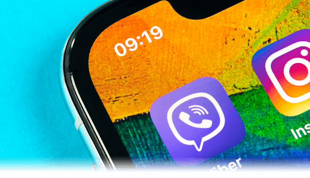 Viber app icon on a phone screen