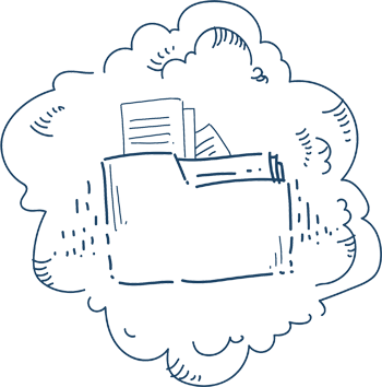 Files folder in a cloud
