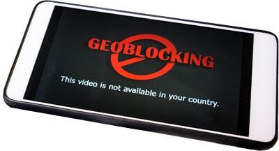 Geoblocked video on a phone