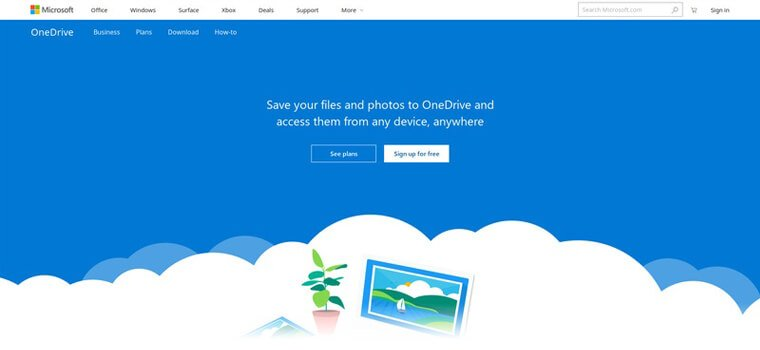 Onedrive website