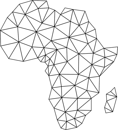 Africa poly map