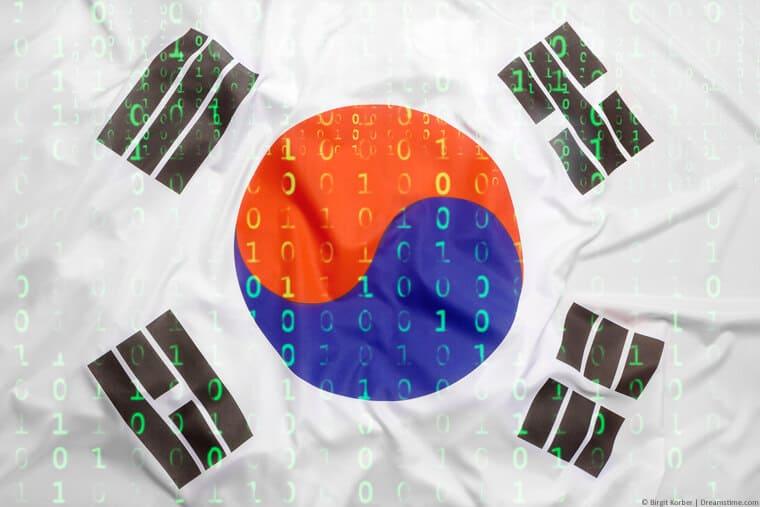 South Korea digital flag