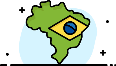 Brazil cartoon map