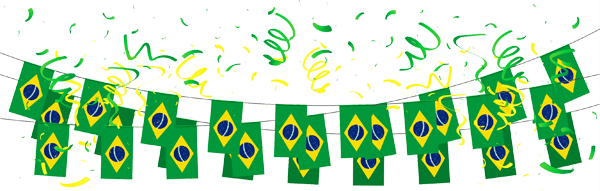 Ribbon of Brazilian flags