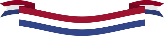 Ribbon of Netherlands flag
