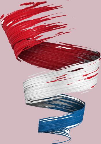 Netherlands paint style ribbon