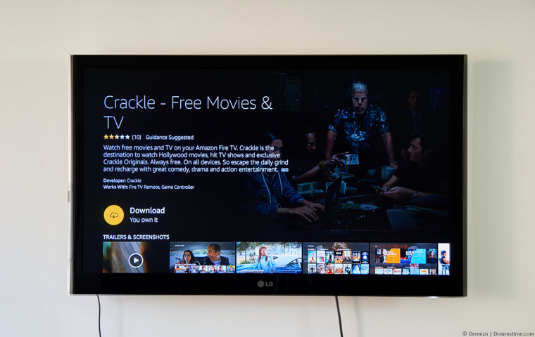 Sony Crackle on a TV