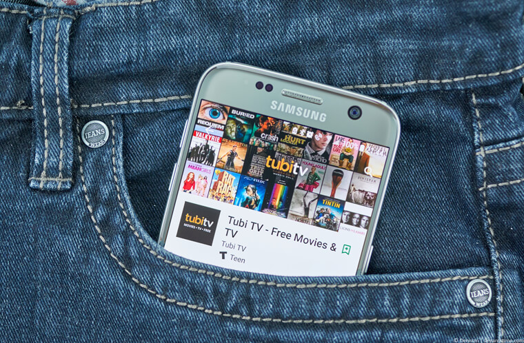 Tubi TV app on a phone