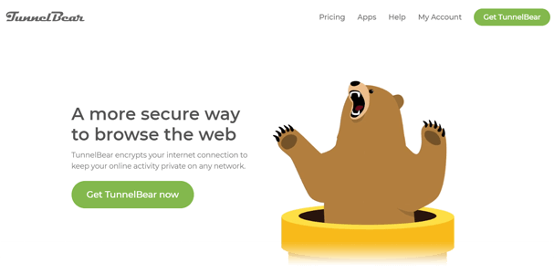 Tunnelbear website