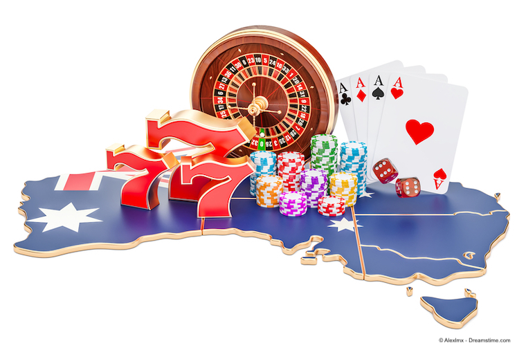 Casino and gambling industry in Australia concept