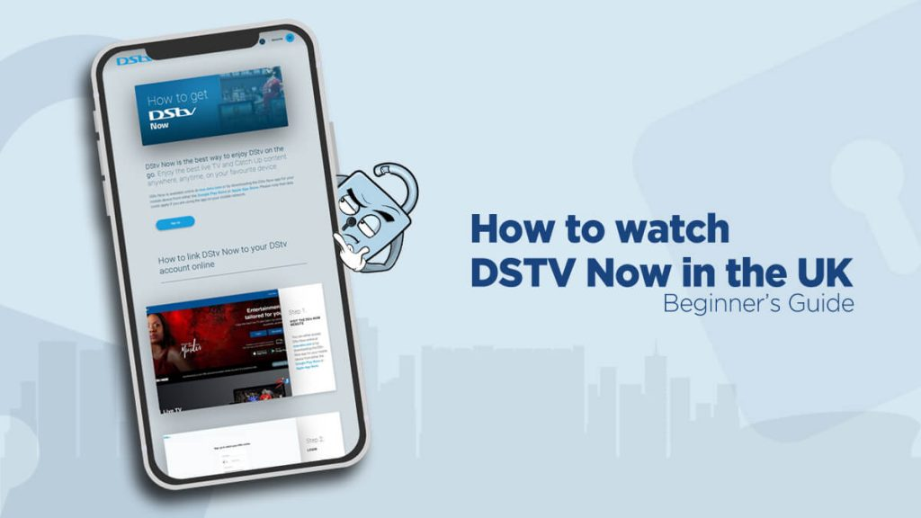 DSTV Now on a phone