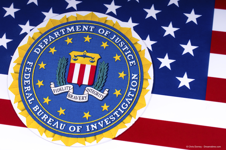 FBI Logo and the USA Flag