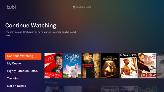 Tubi TV Fire TV app