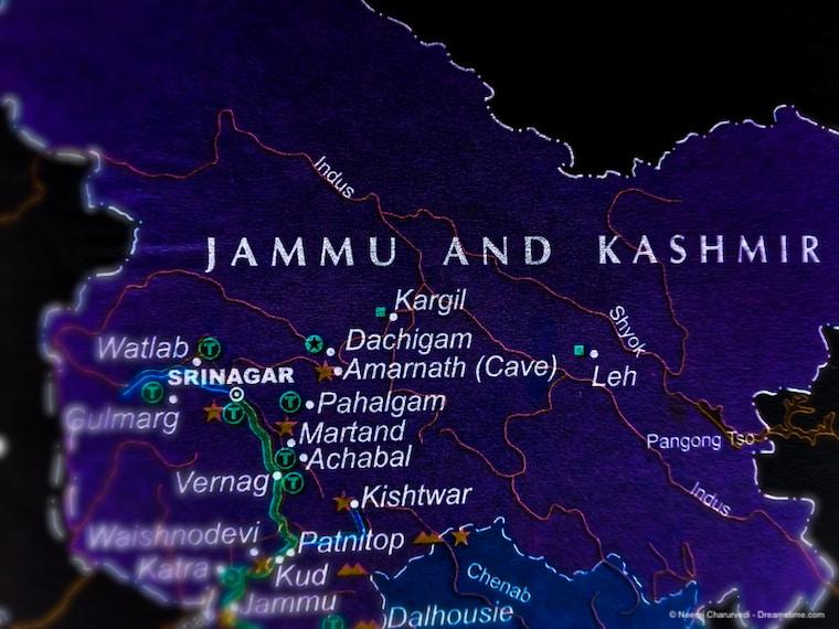 Map of Kashmir region