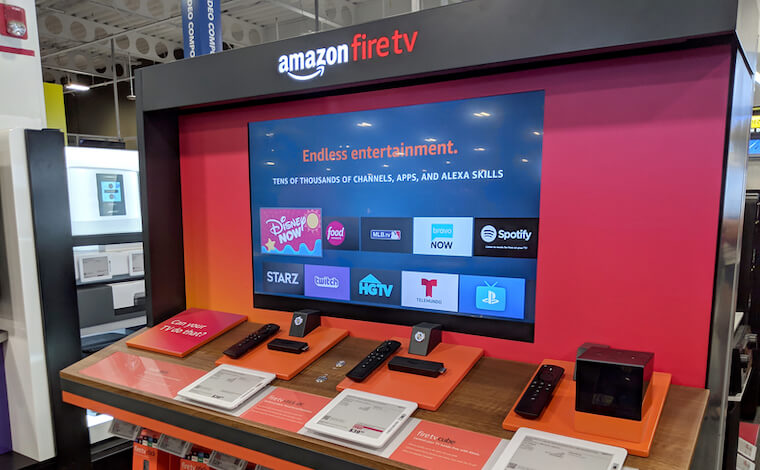 FireTV for sale in a store