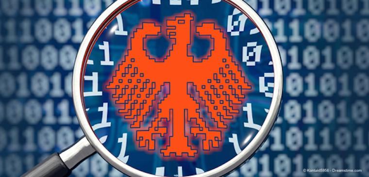 German symbol on cumputerl language background