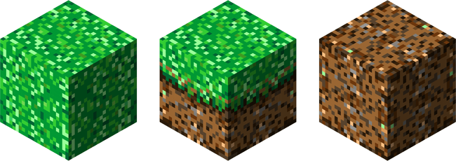 3D Minecraft blocks