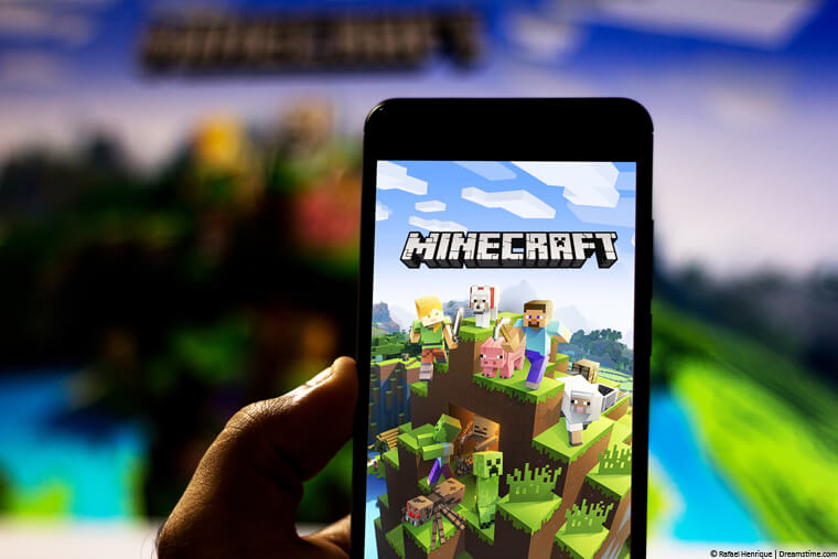 Minecraft on a phone