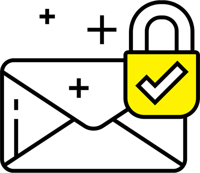 Email with a padlock