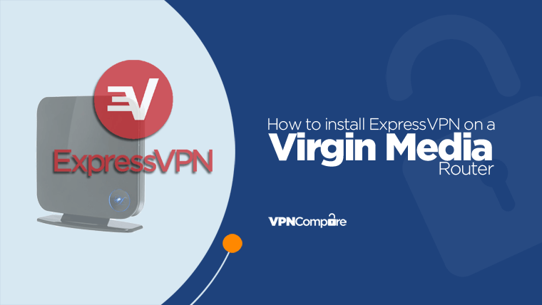 Virgin router with ExpressVPN logo