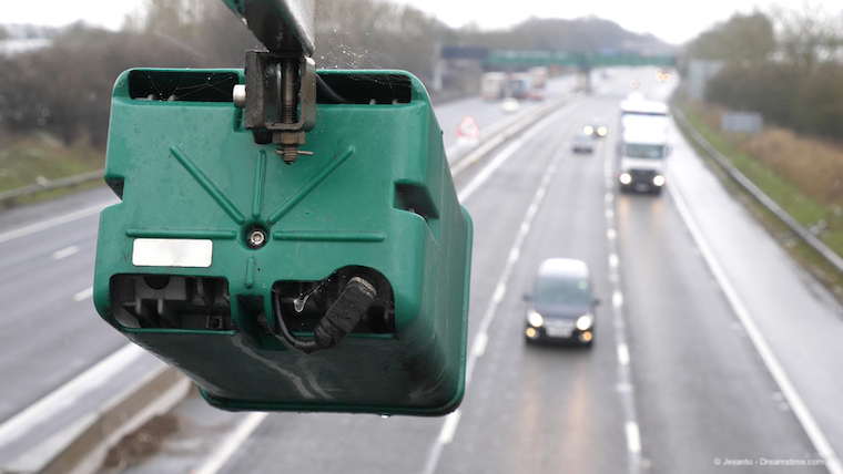 ANPR camera on a motorway