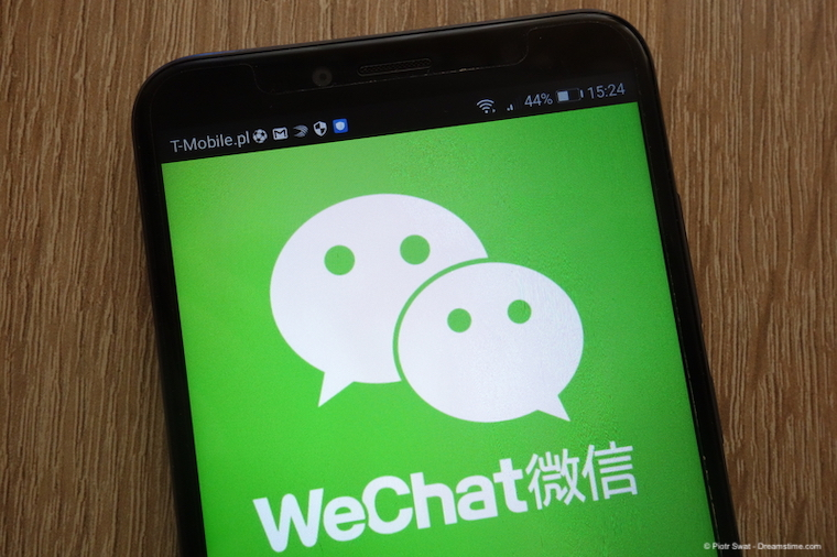 WeChat logo on smartphone