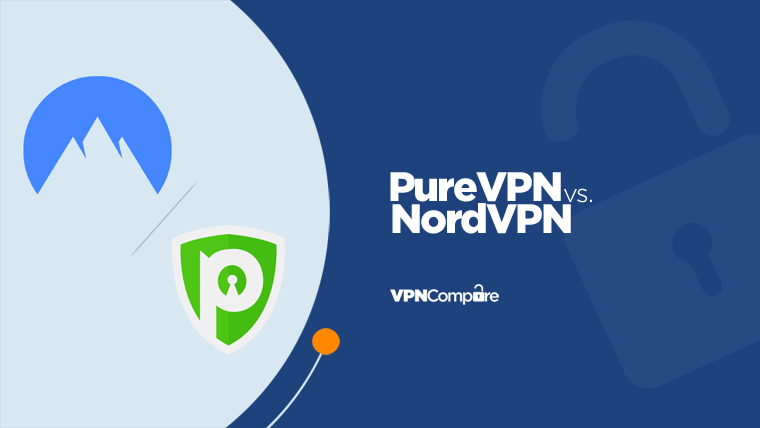 NordVPN and PureVPN logos