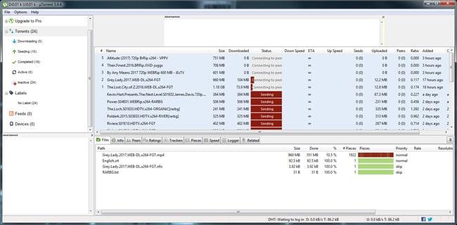 uTorrent client