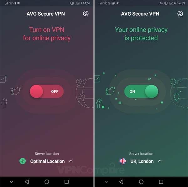 AVG Secure Android app