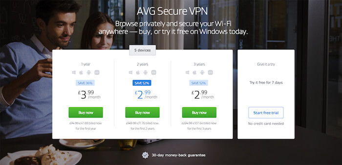 AVG Secure prices
