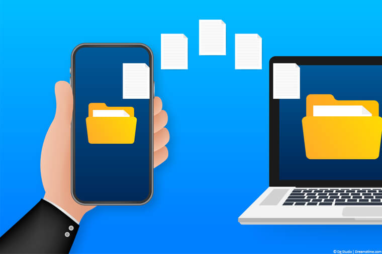 Sharing files from phone to laptop