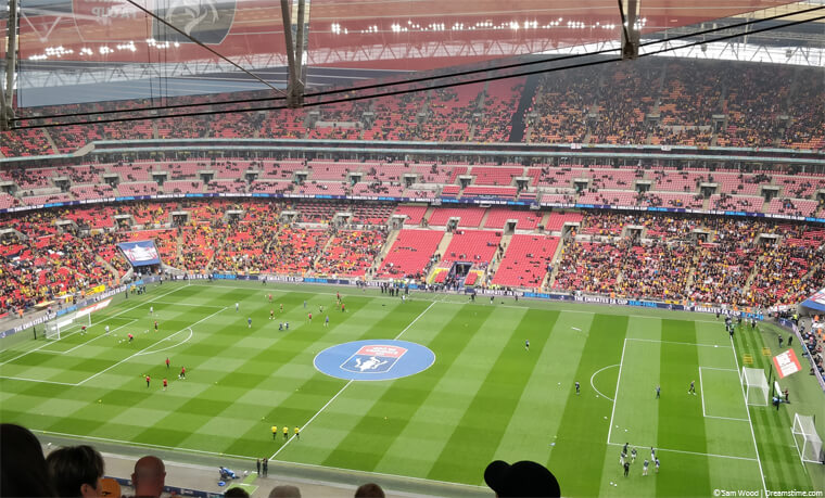 Wembley stadium from high seats