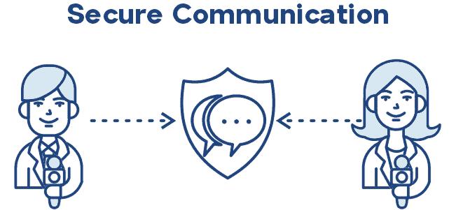 Journalist secure communication