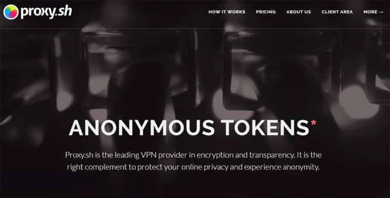 Proxy.sh website