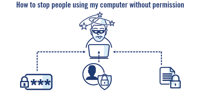 Computers and password illustrations