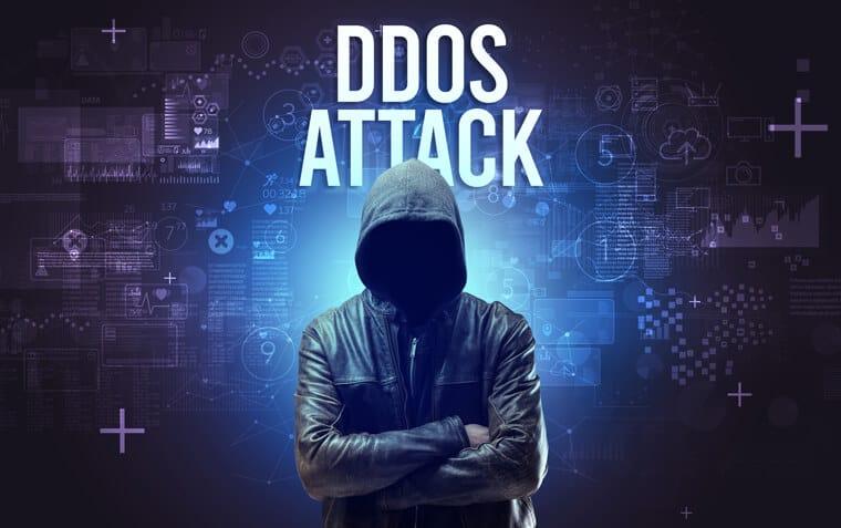 DDOS attack man