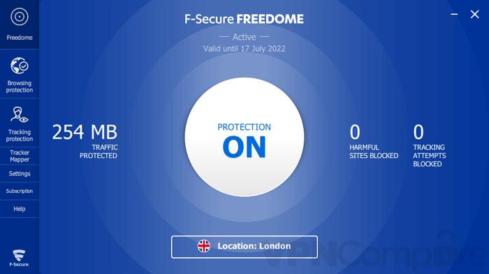 F-Secure Freedome Windows app