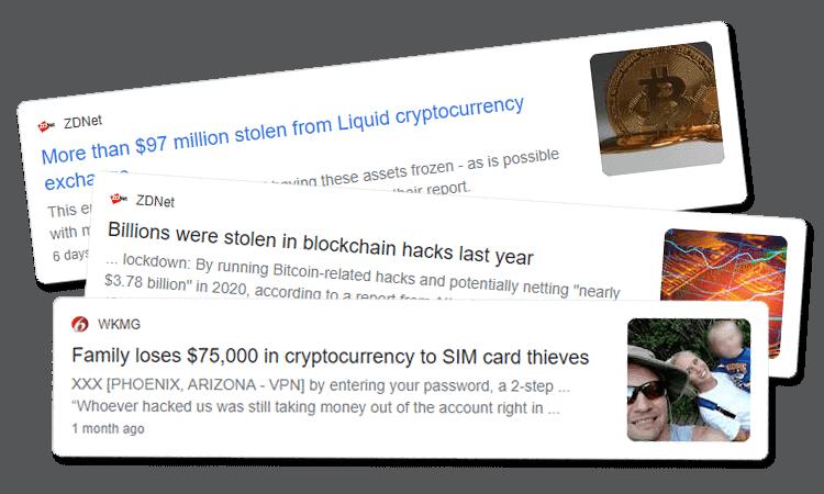Crypto hack headlines